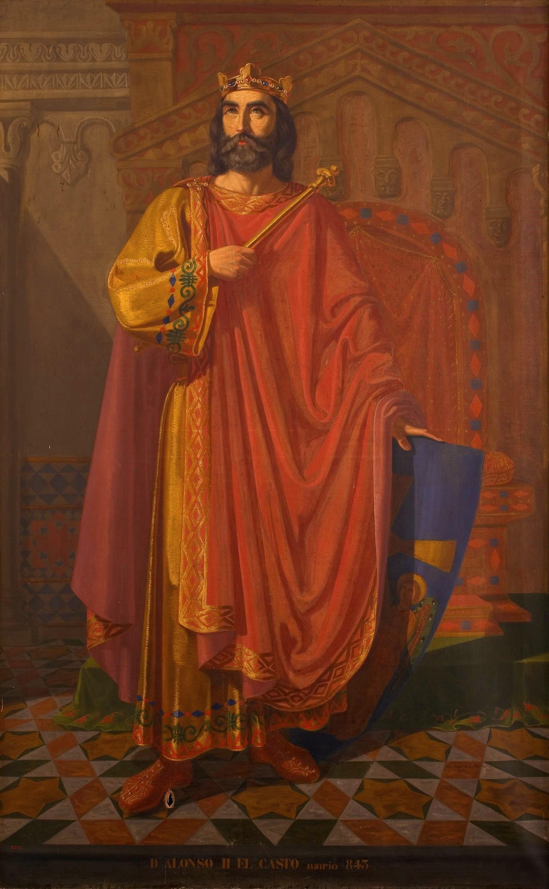 File alfonso ii el casto rey de asturias museo del prado - El rey del tresillo ...