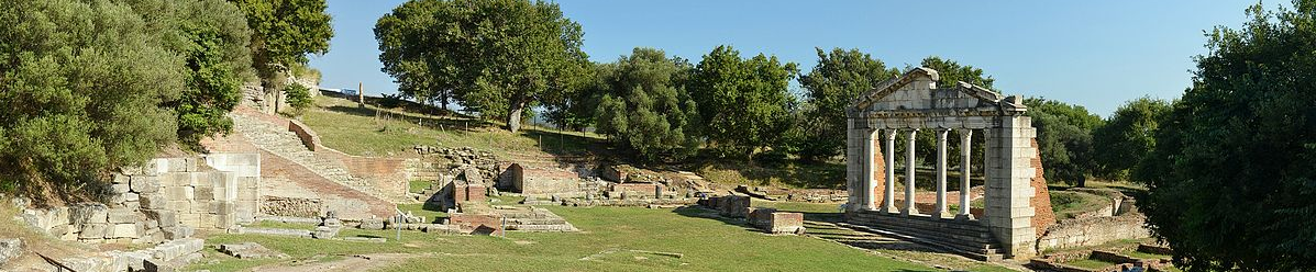Apollonia archaeological site near Fier