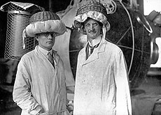 Auguste Piccard (on the right), physicist, inventor and explorer, was a resident of Lausanne.