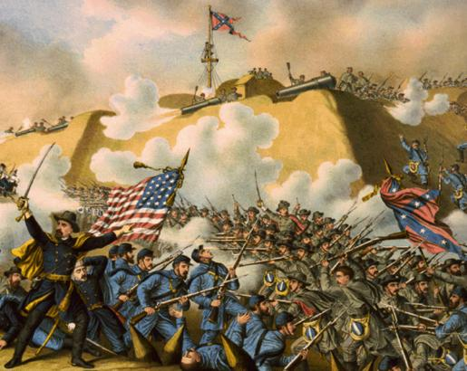 https://upload.wikimedia.org/wikipedia/commons/1/17/Battle_of_Fort_Fisher_flags_stockade.jpg