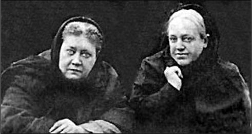 Е. П. Блаватская и В. П. Желиховская.