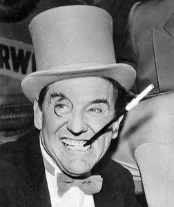 Meredith as the Penguin on the classic '60s TV show Batman