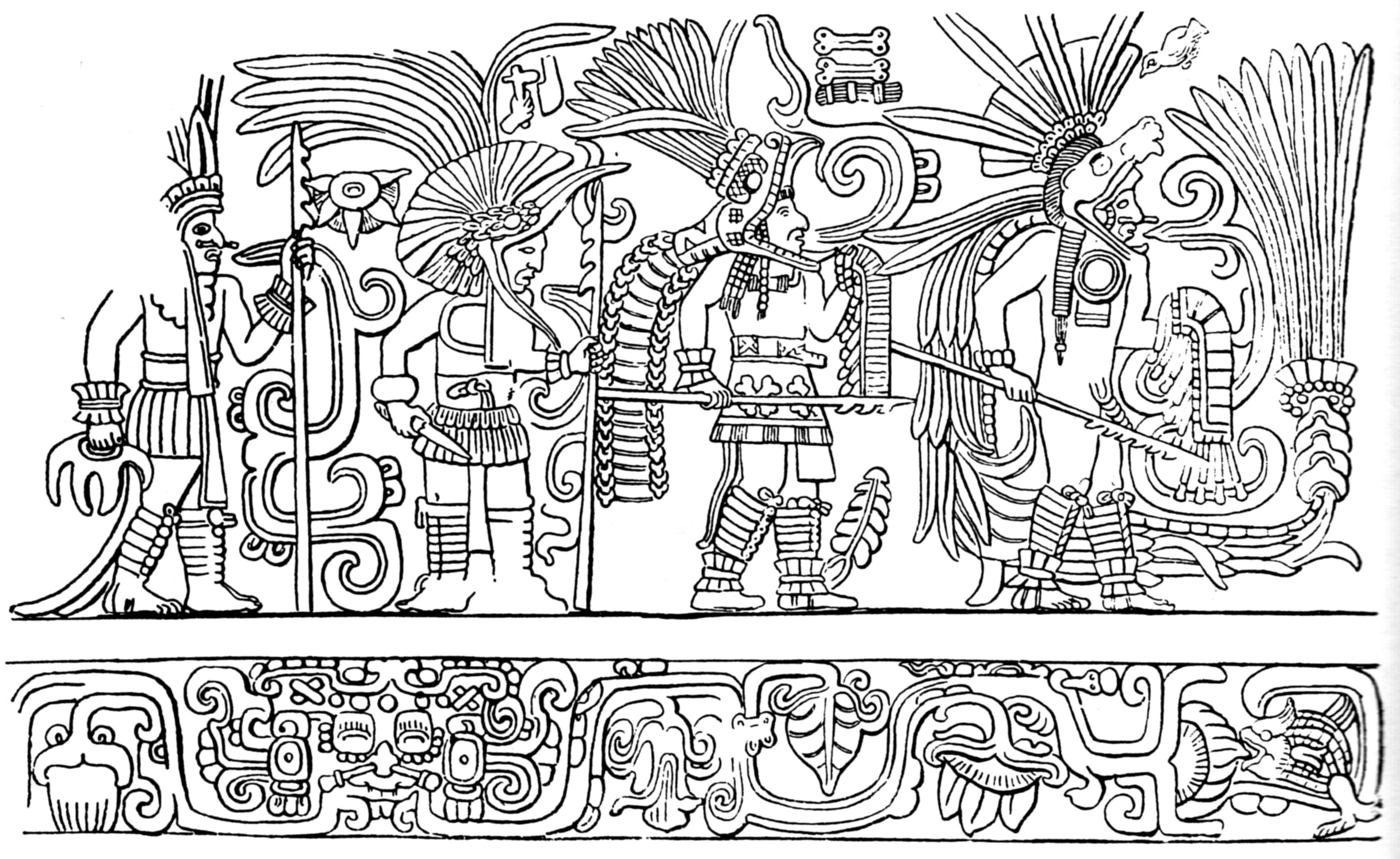 Image Result For Free Mayan Coloring