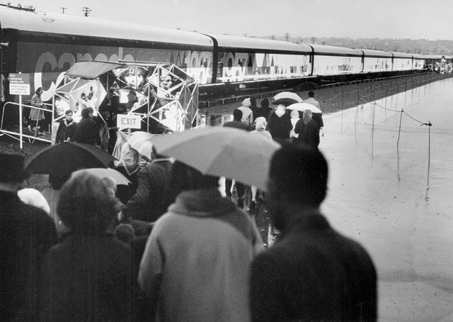 File:Confederation train in Vancouver during Centennial of Canada