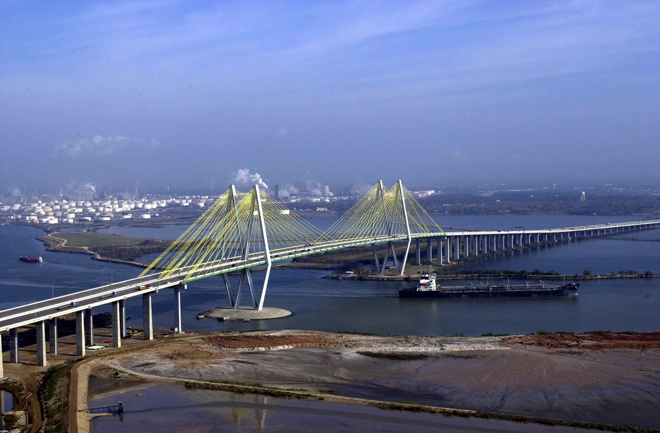 File fred hartman bridge wikimedia commons for La porte texas usa