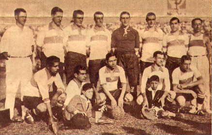 Formación del Gimnasia y Esgrima La Plata Campeón de 1929