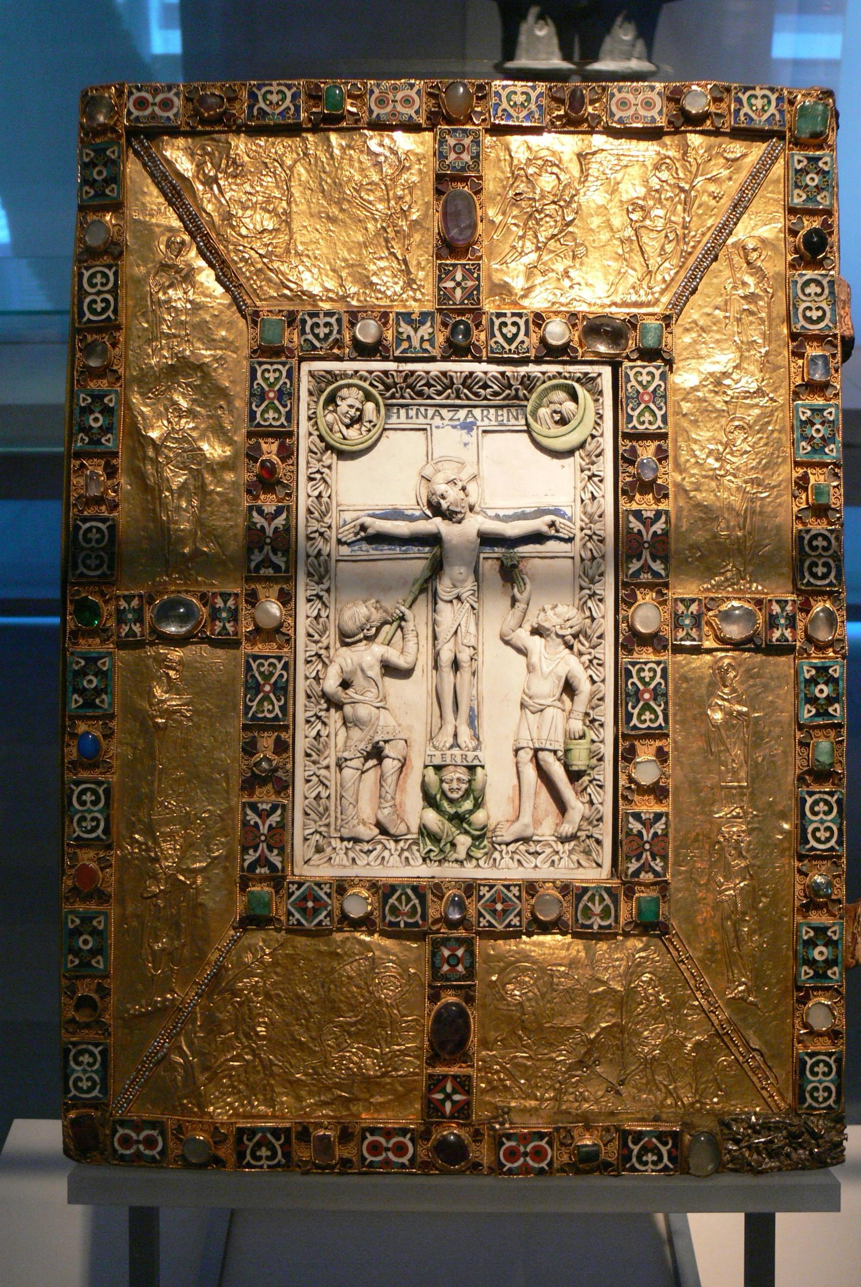 """Der """"Codex aureus Epternacensis"""" oder """"goldene Codex von Echternach"""" - eines der prachtvollsten erhaltenen Bücher aus dem Mittelalter, ein Beispiel allerhöchster Kunstfertigkeit. Aber steht sein Wert als Quelle in Zusammenhang mit seinem künstlerischen oder materiellen Wert?"""