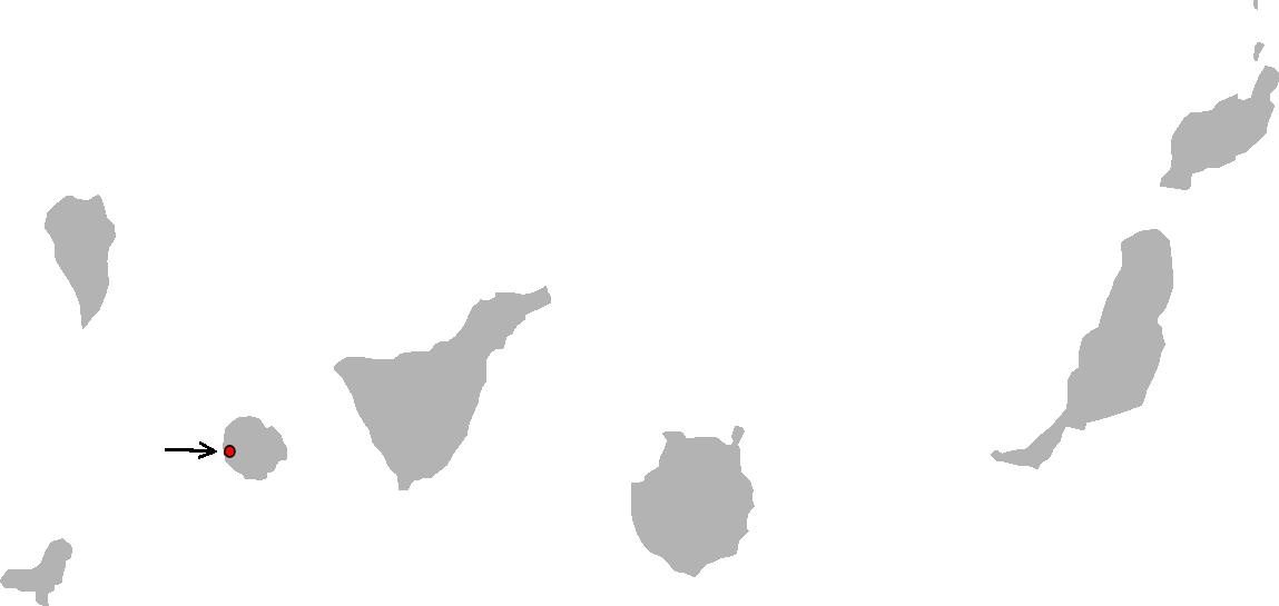 Gallotia bravoana range Map.png
