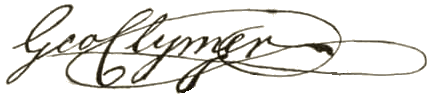 George Clymer Signature