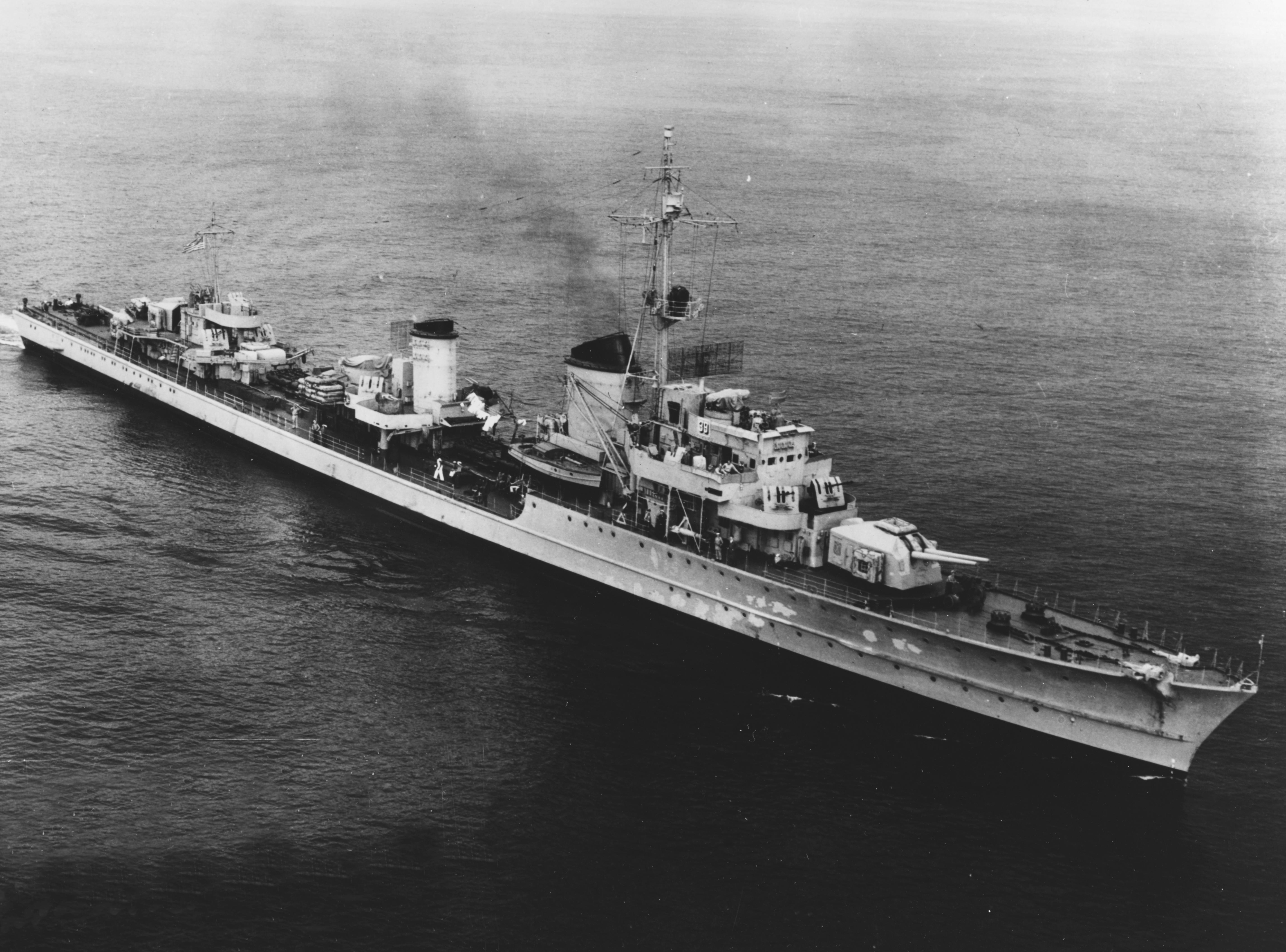 German destroyer Z39 underway off Boston on 12 September 1945 - Potential Split lines