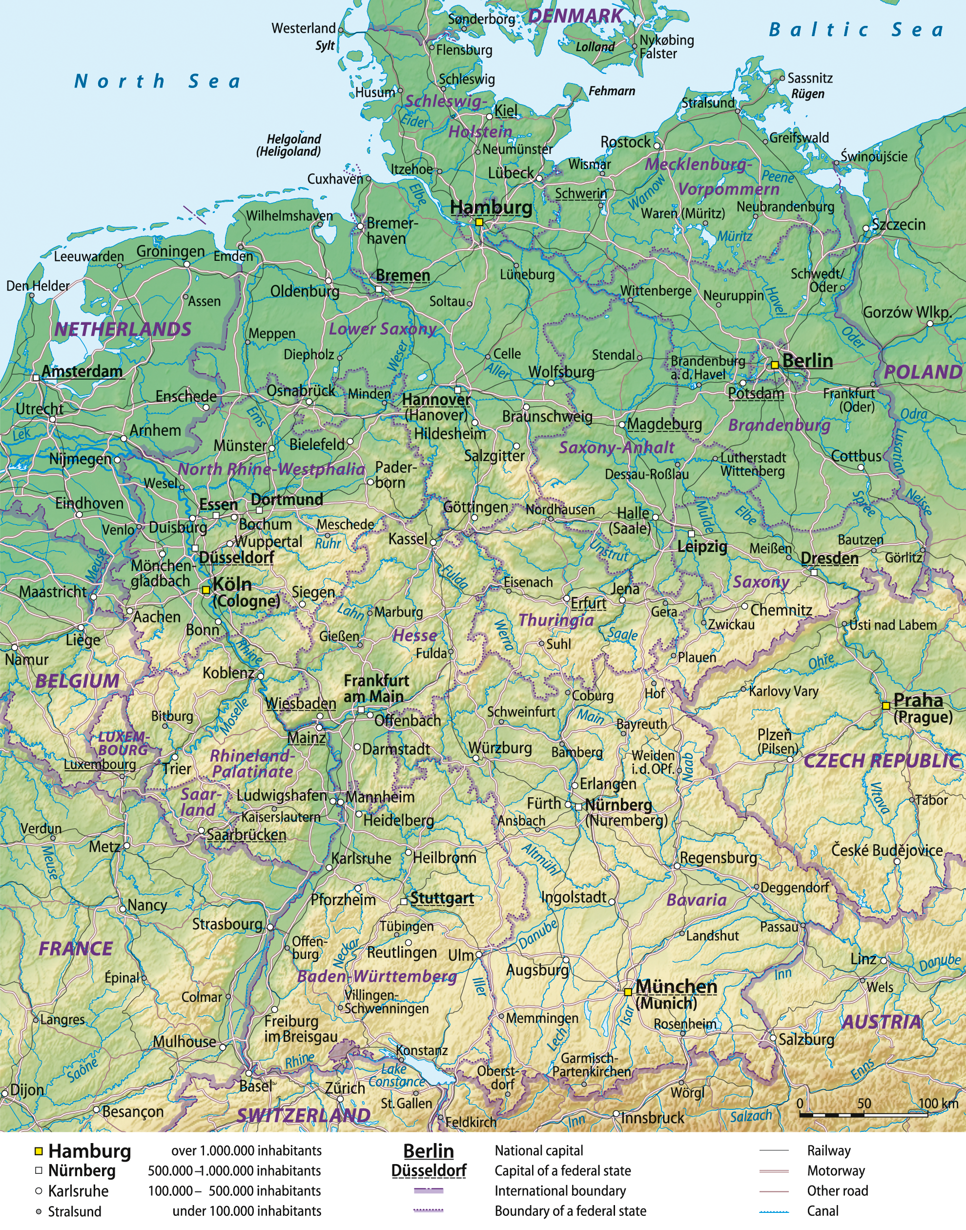 kart over tyskland map File:Germany general map.png   Wikipedia kart over tyskland map