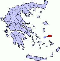 Poloha ostrova samos v grécku