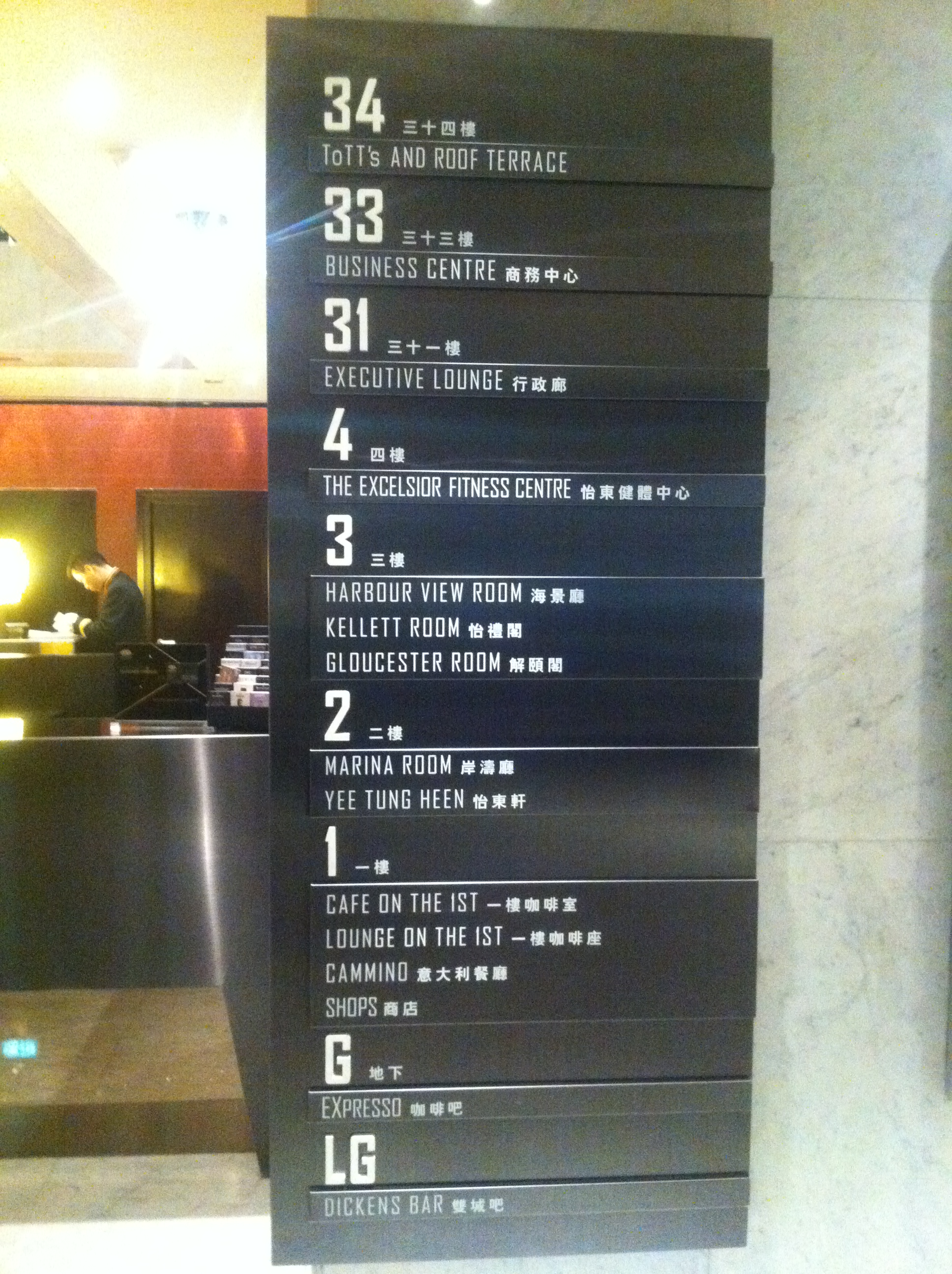Filehk cwb excelsior hotel 香港怡東酒店 floors directory sign dec 2011