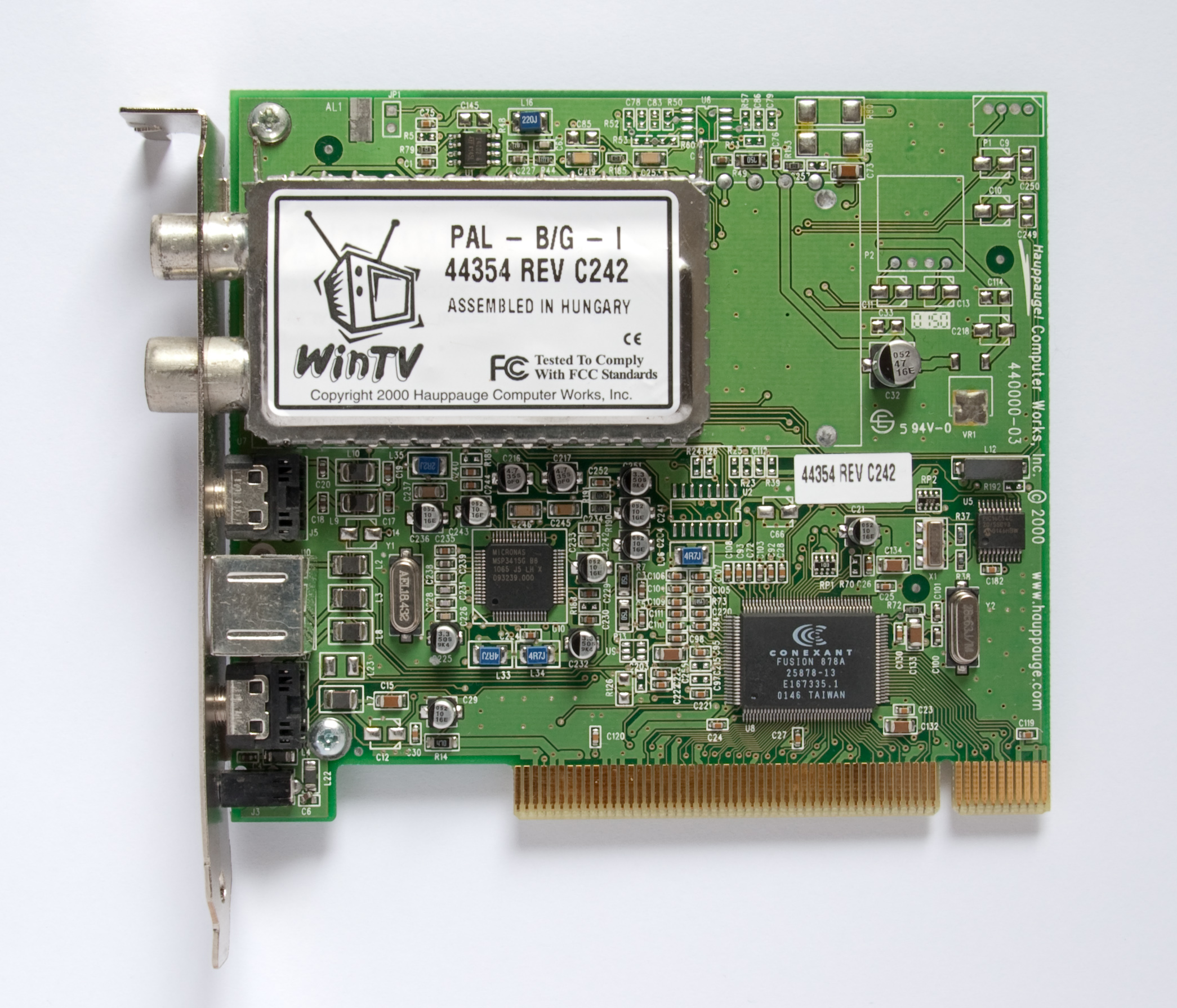 DRIVERS Hauppauge Media Center WinTV-PVR ///USB2 Drivers