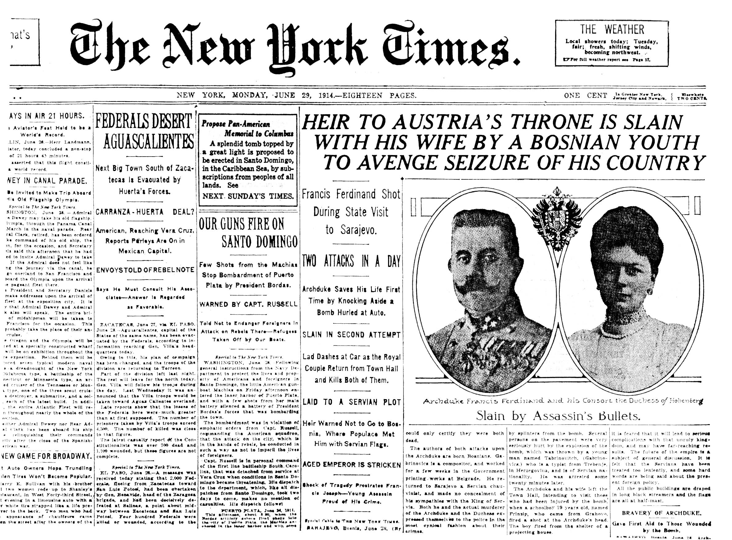 An issue of The New York Times dated June 29