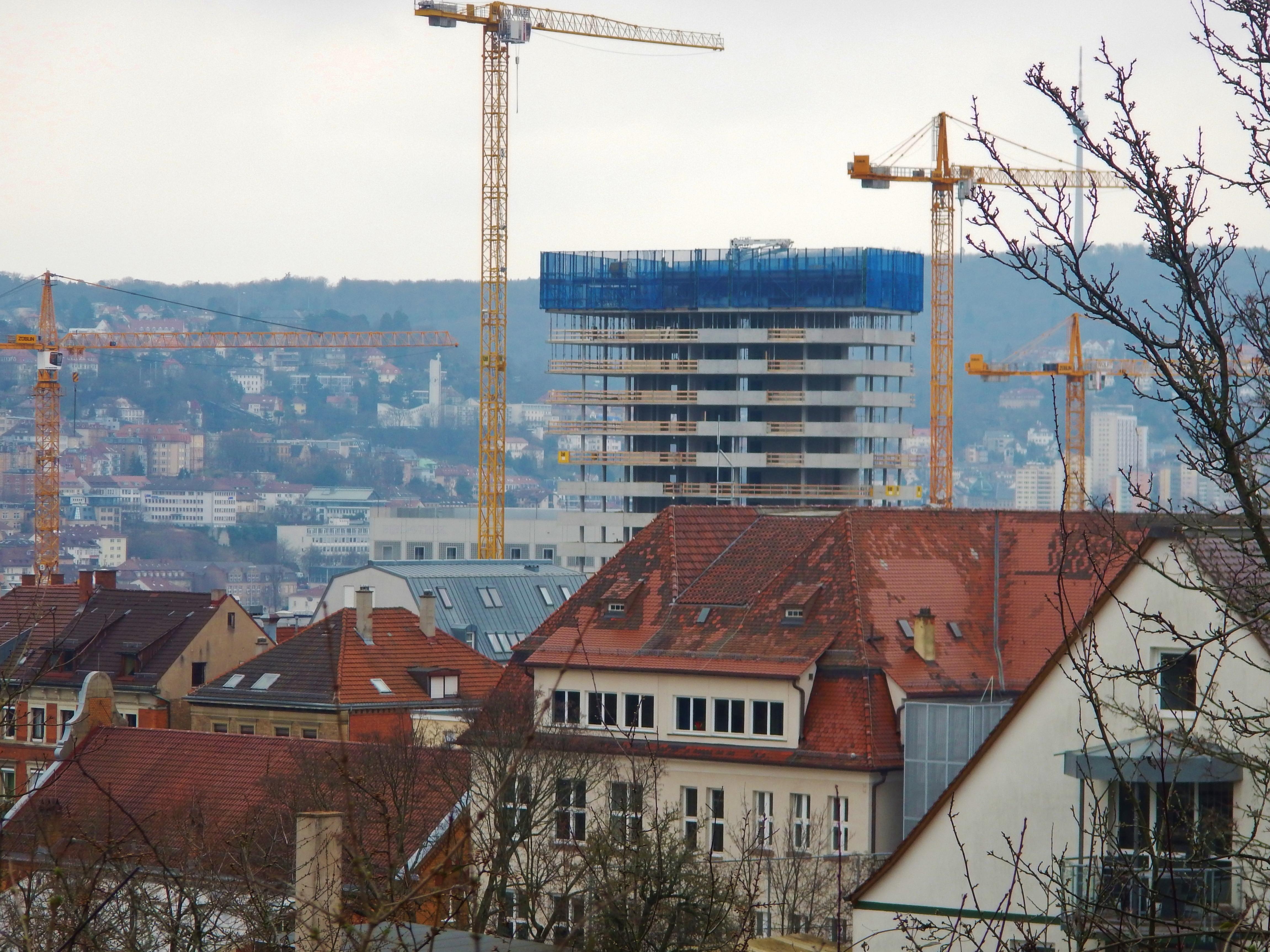 Filehochhaus Cloud No7 In Bau Im Europaviertel In Stuttgart