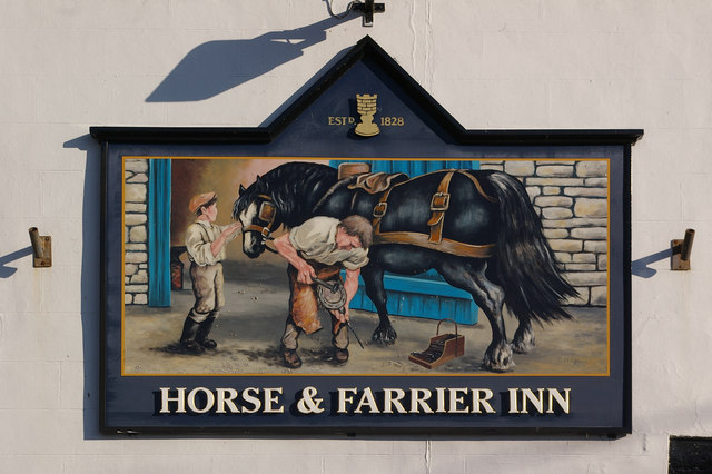 Horse and Farrier Inn sign - geograph.org.uk - 852483