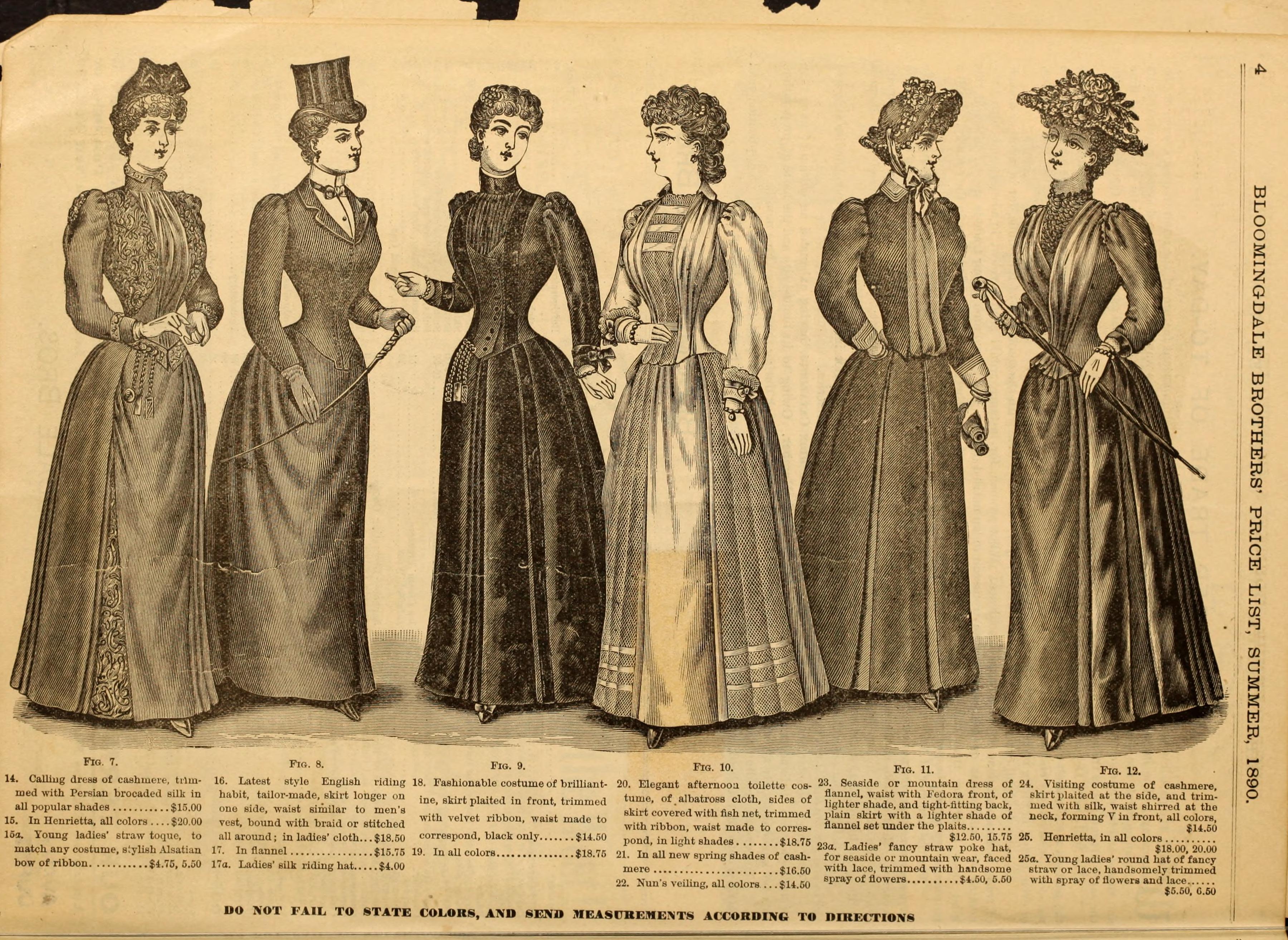 File Illustrated Fashion Catalogue Summer 1890 1890