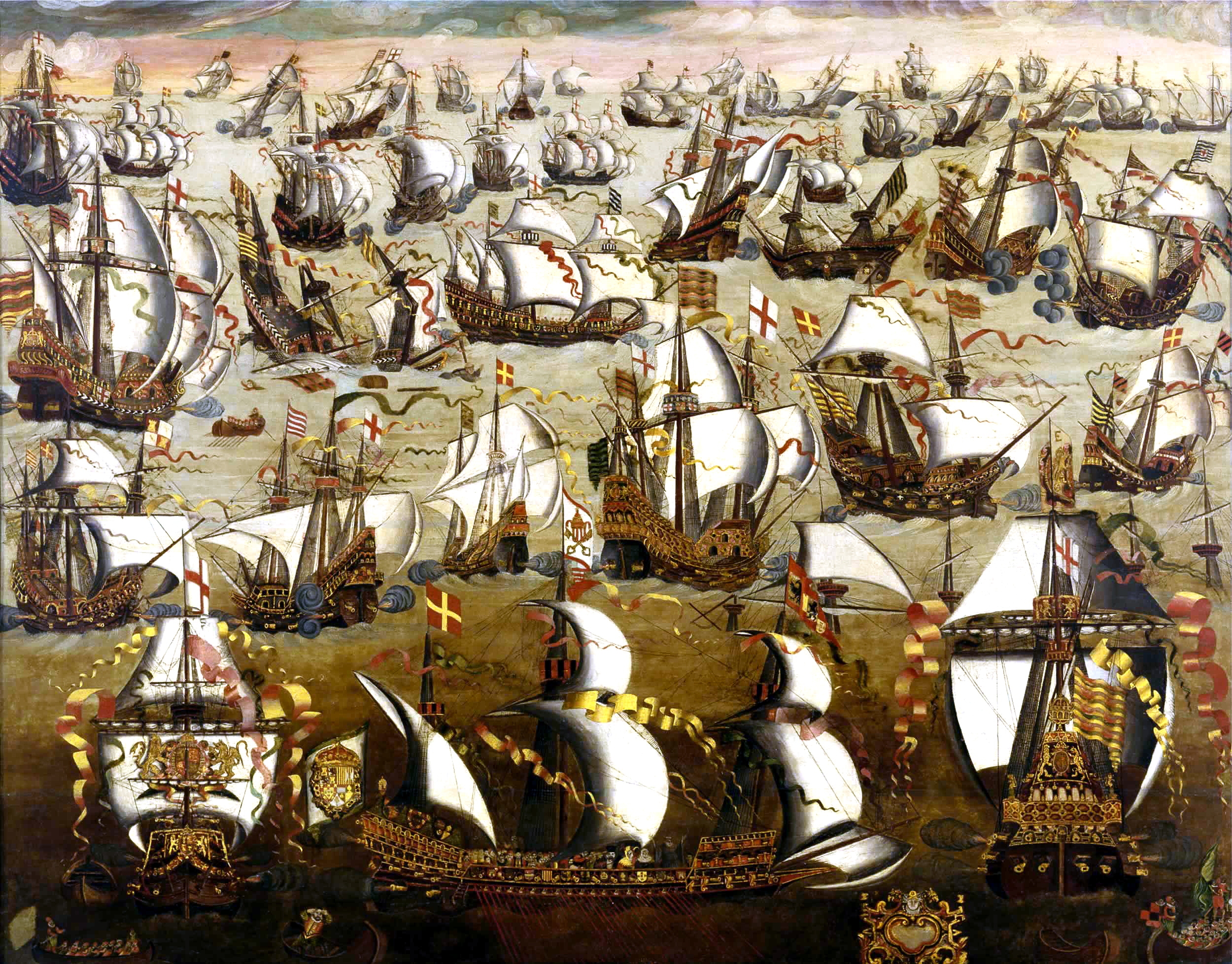 English ships and the Spanish Armada