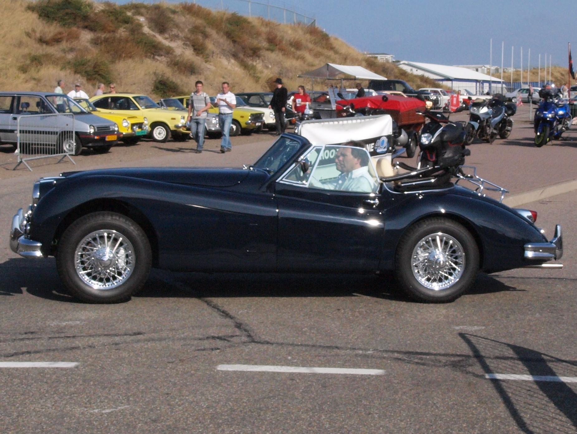 A black Jaguar XK at the Nationaal Oldtimer Festival Zandvoort 2009, The Netherlands.