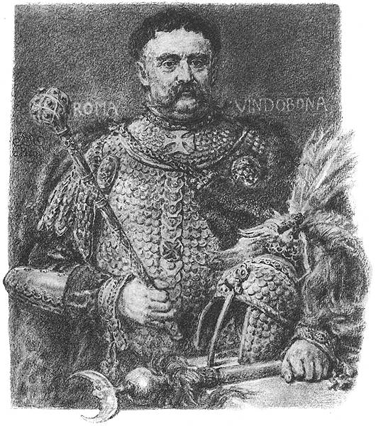 Jan Matejko - Jan Sobieski, portraited in a parade scale armour