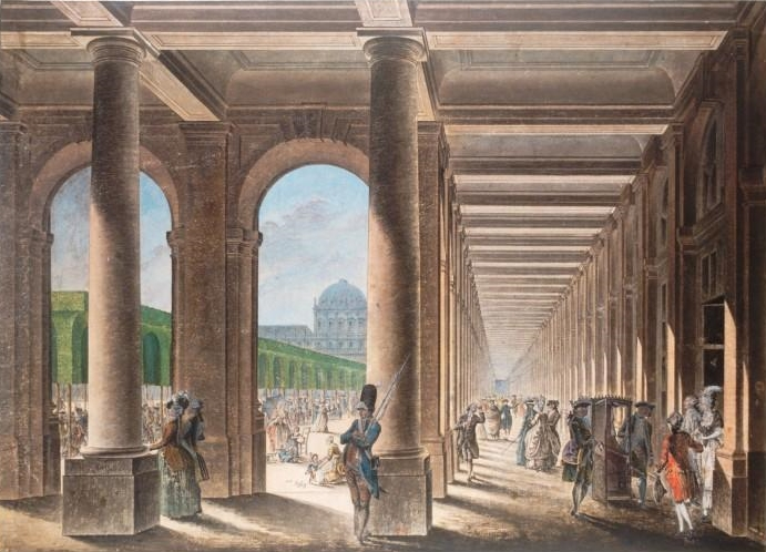 Jardin du Palais Royal, Galerie de Montpensier, Paris, th c