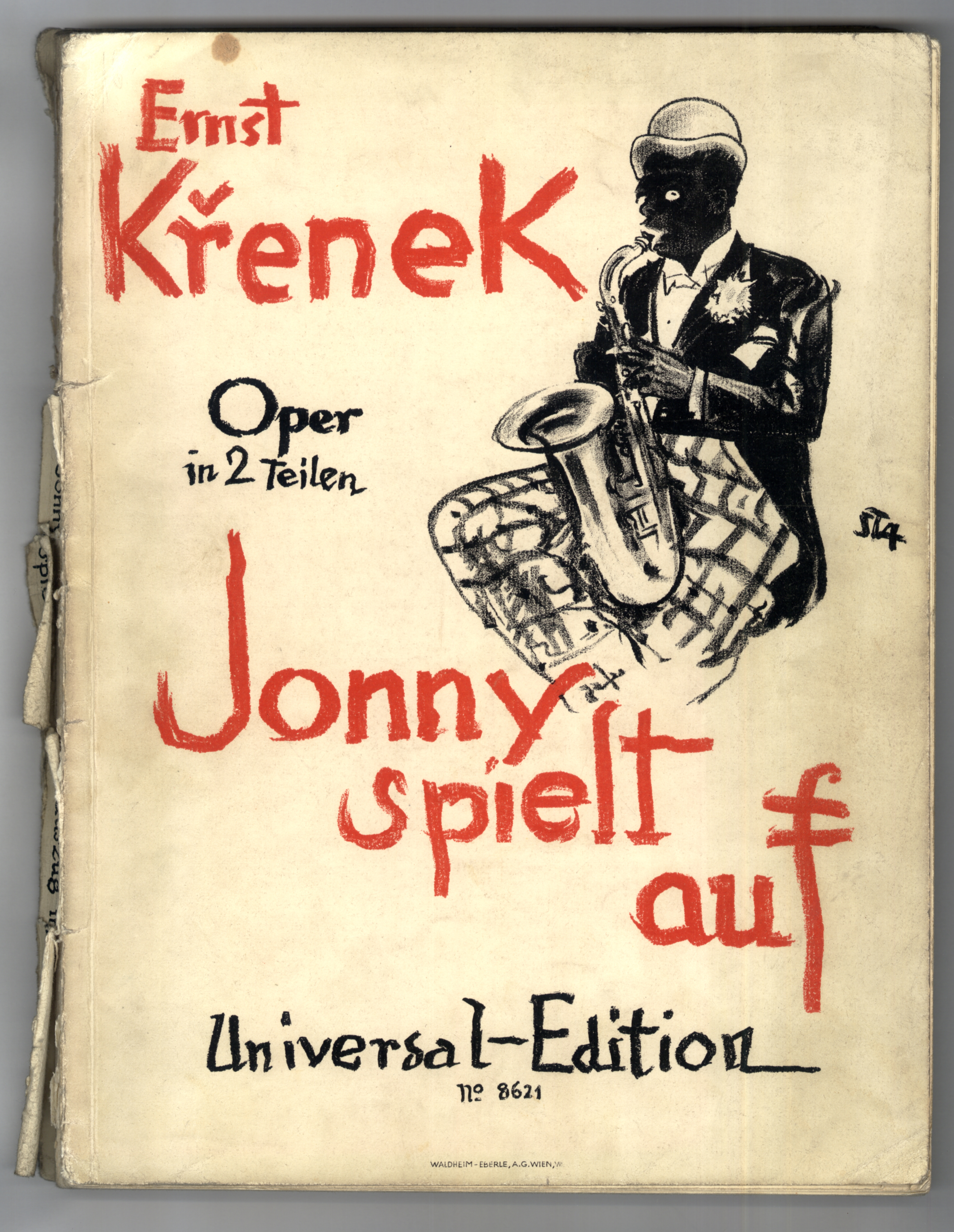 Cover of Musical Score for Jonny Spiel Auf. By graphic design: Arthur Stadler (1892-1937) (Andrea1903) [Public domain], via Wikimedia Commons