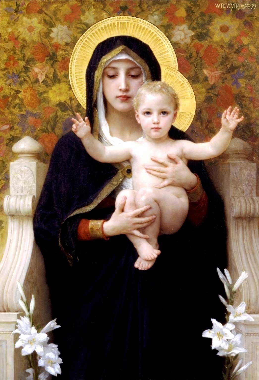 William Bouguereau (1825-1905): La Vierge au lys («Jomfruen av liljene») (1899), Museum of the Art Renewal Center (ARC)