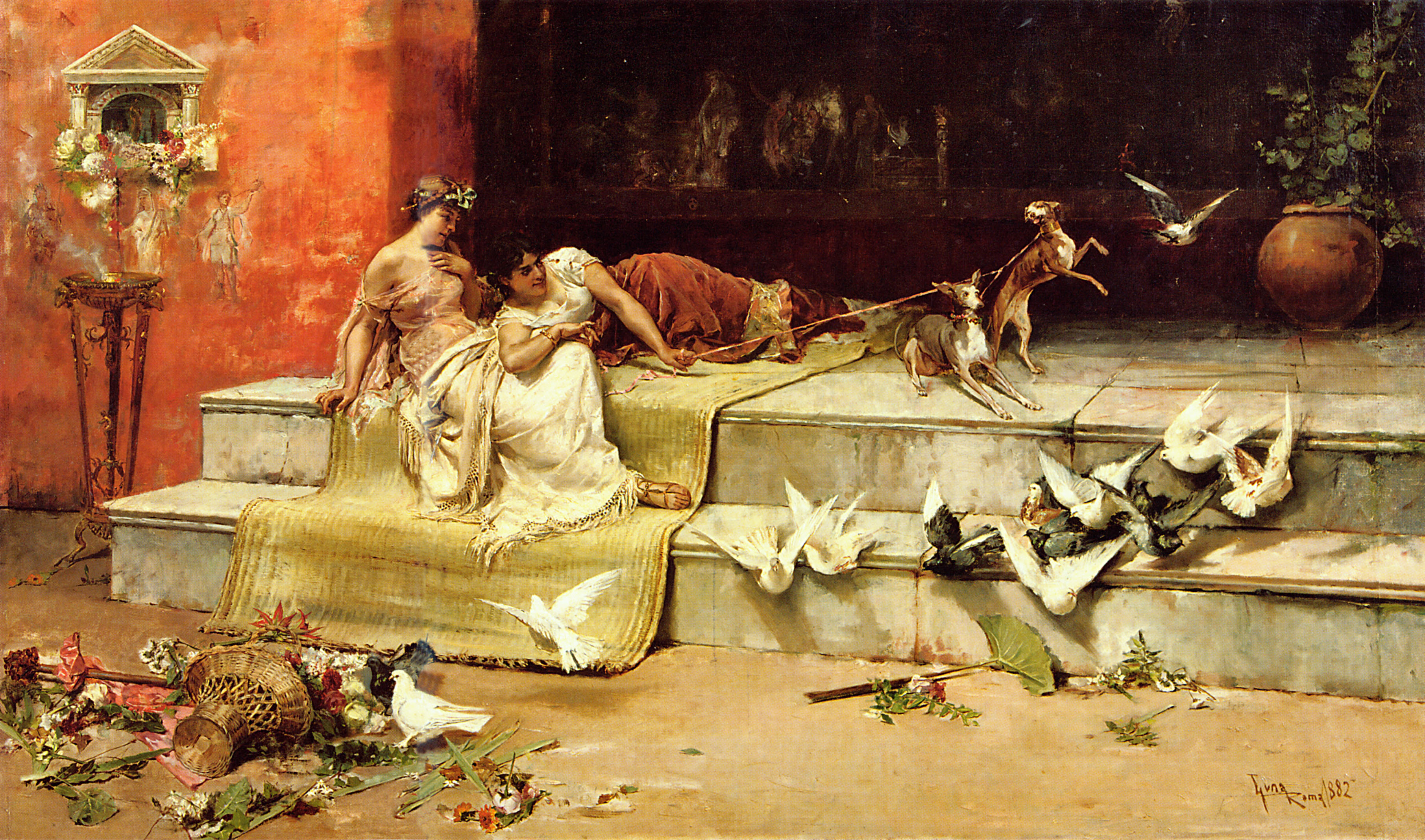 What does the painting Parisian Life by Juan Luna mean