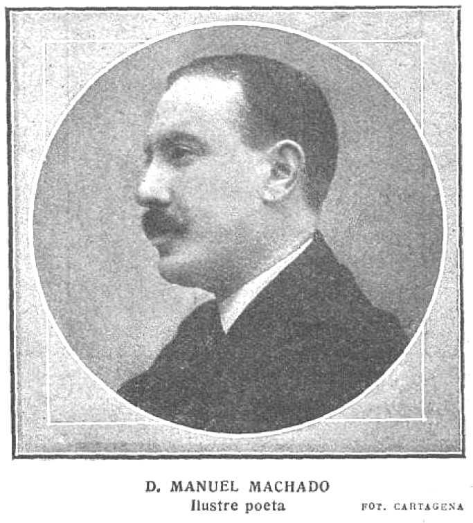 Retrato de Manuel Machado publicado en el ''Mundo Grafico'' (1914)