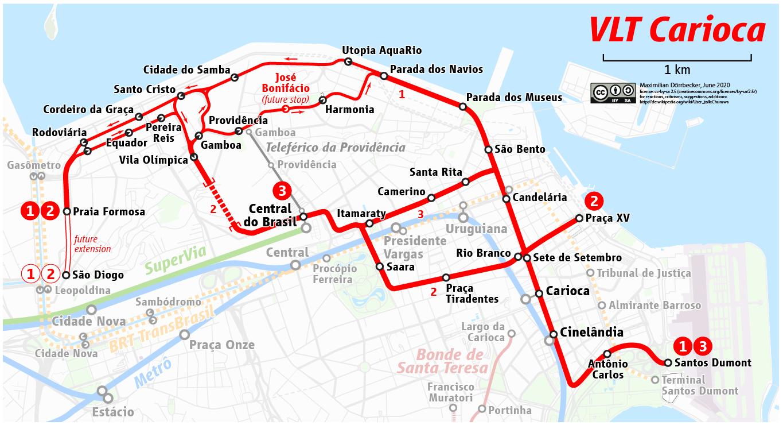 Rio De Janeiro Karte.File Map Of The Vlt Carioca Rio De Janeiro Light Rail Png