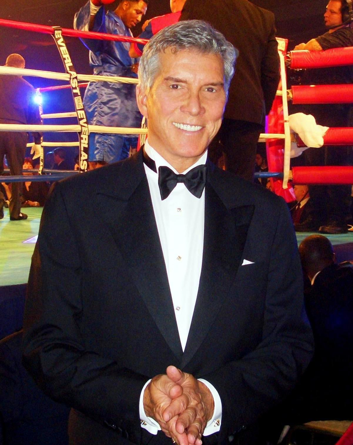 Professional ring announcer Michael Buffer made a guest appearance in the episode, in which he spoke his trademark phrase,