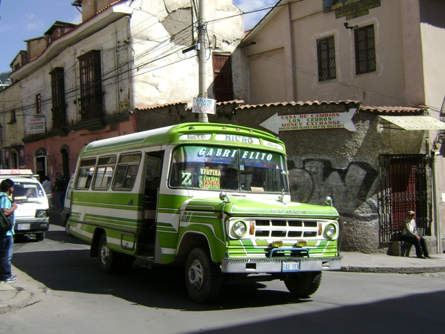 Micro bus things to do in La Paz, Bolivia