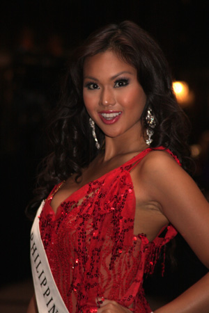 Miss Philippines 2008 Danielle Castano during ...