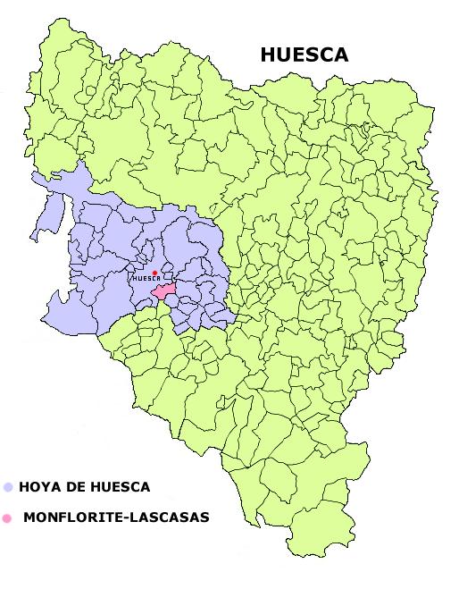 Map Of Spain Huesca.Monflorite Lascasas Wikipedia