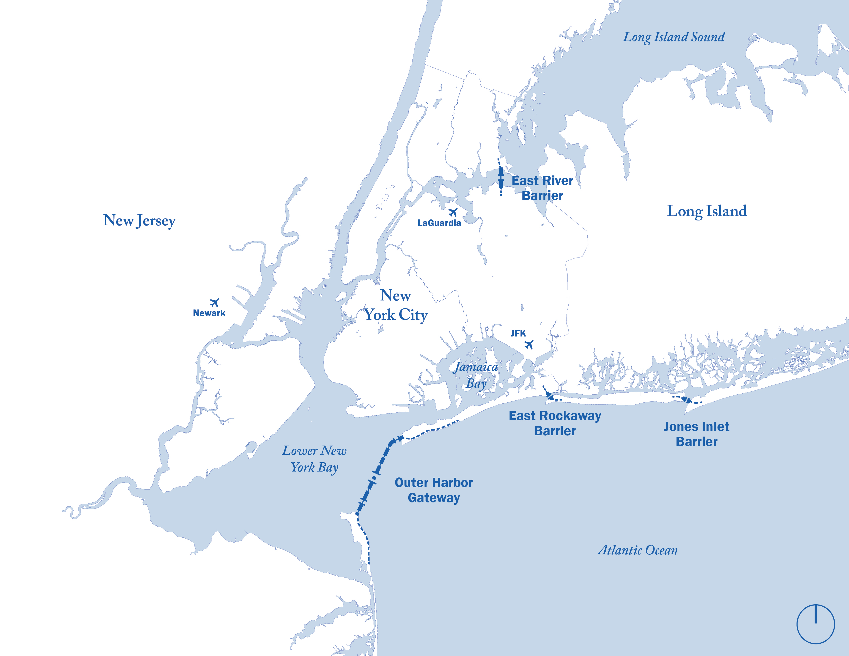 Map Of New York Harbour.New York Harbor Storm Surge Barrier Wikipedia