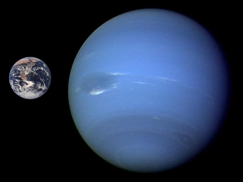 Objetos del Sistema Solar comparados a escala con la Tierra Neptune_Earth_Comparison