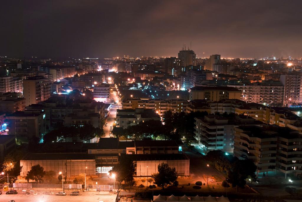 Night Skyline Of Taranto C Italy