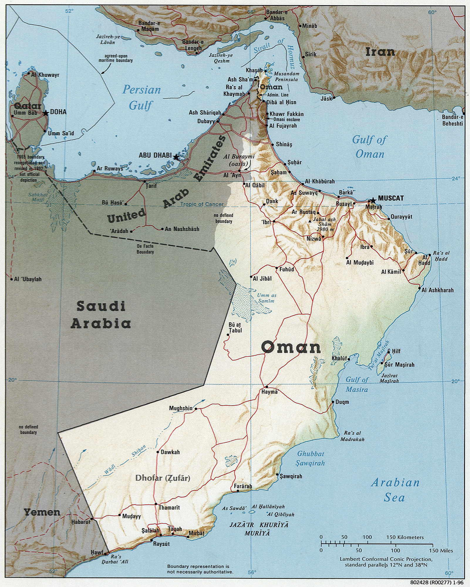 Geography of Oman Wikiwand – Map of Oman and Uae