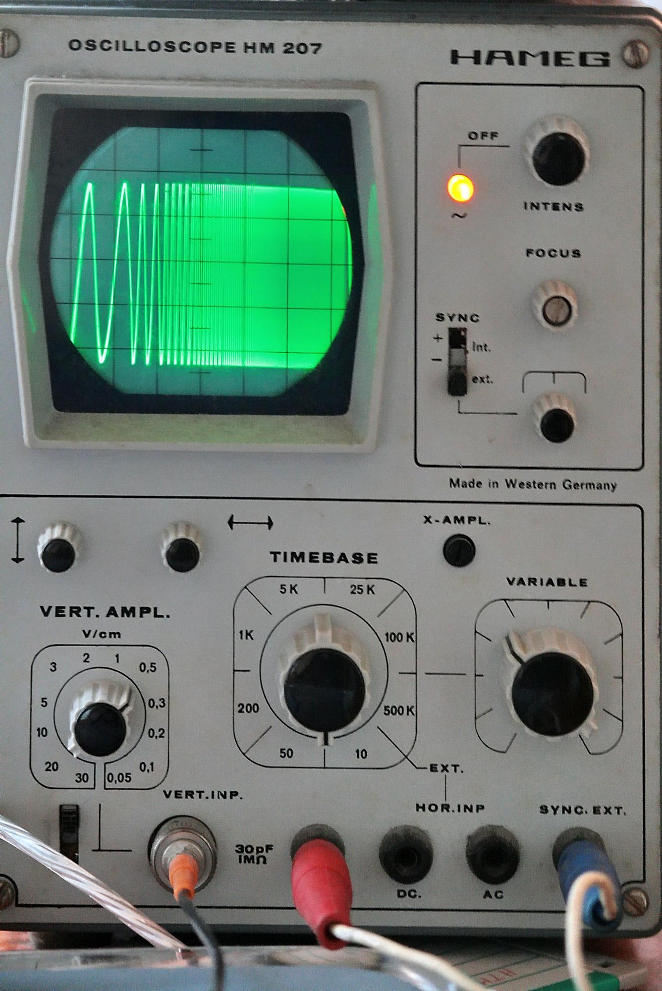 Forum Hameg Hm207 Help Saltato Lasse X Su Elettronica Grixit Come Leggere I Circuiti Elettrici A Questo Punto Cosa Appare Sullo Schermo