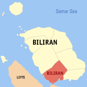 Map of Biliran showing the location of Biliran