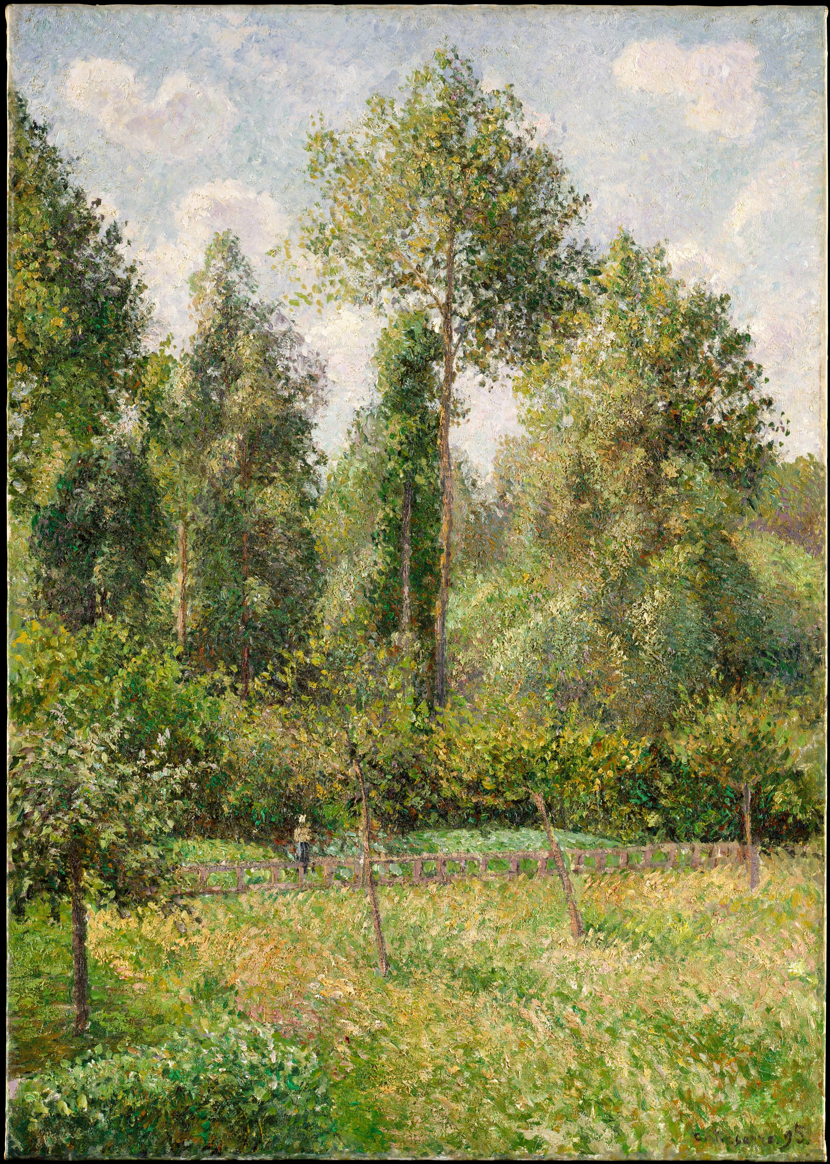 File pissarro poplars eragny without frame jpg for Camille pissarro oeuvre