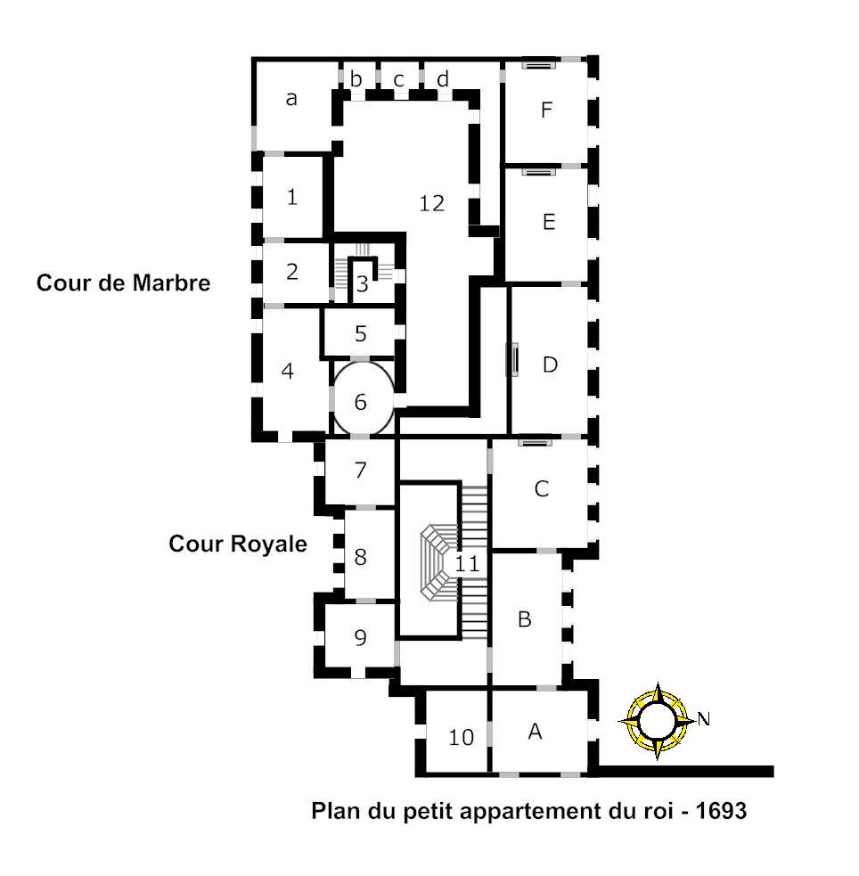 file plan du petit appartement du roi wikimedia. Black Bedroom Furniture Sets. Home Design Ideas