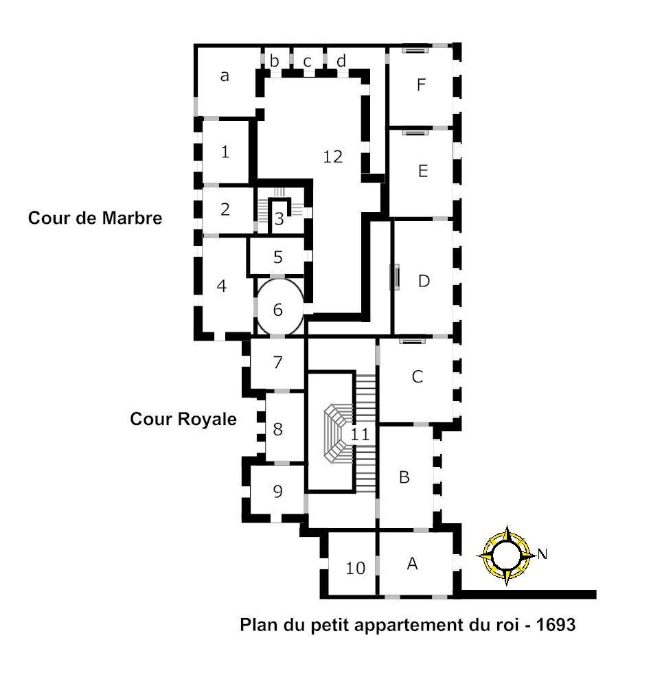 Petit appartement du roi wikip dia for Appartement plan