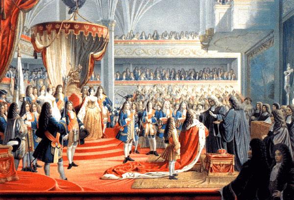 Krönung von Kurfürst Friedrich I. als König Friedrich I. in Preußen in Königsberg 1701 - Bild eines unbekannten Malers