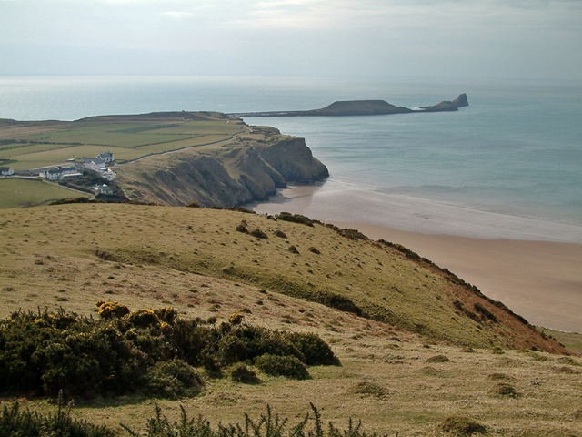 Rhossili and the Worm's Head - geograph.org.uk - 1057944