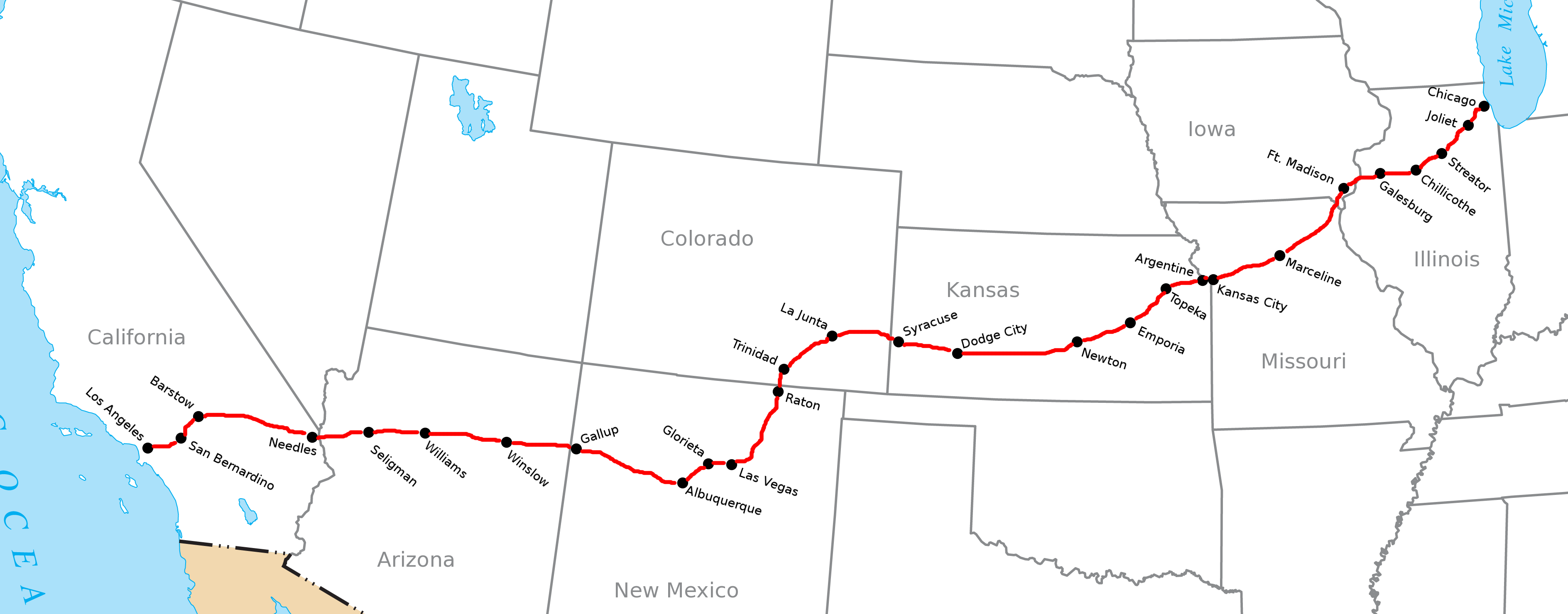 Santa Fe Railroad Route Map Swimnovacom - Atchinson topeka and santa ferailroad on the us map