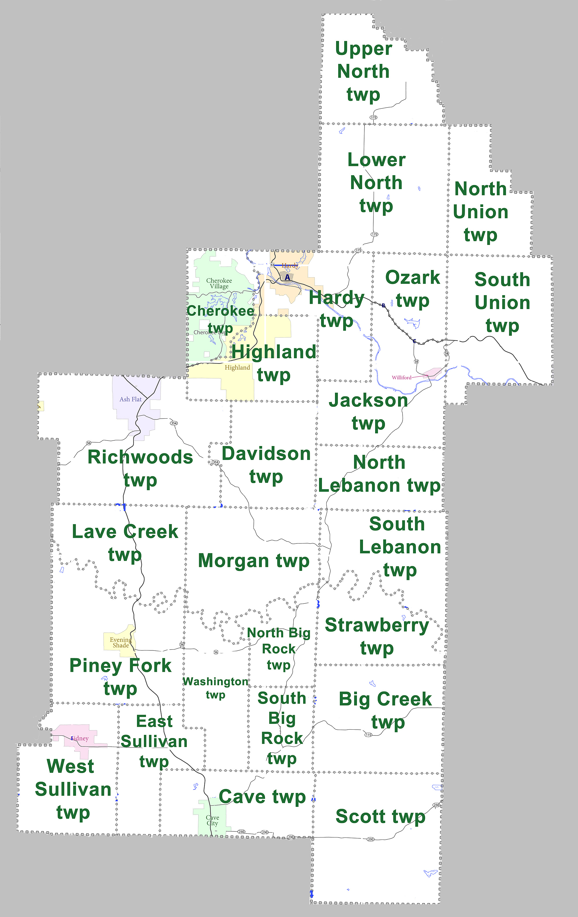 File Sharp County Arkansas 2010 Township Map Large Jpg Wikimedia