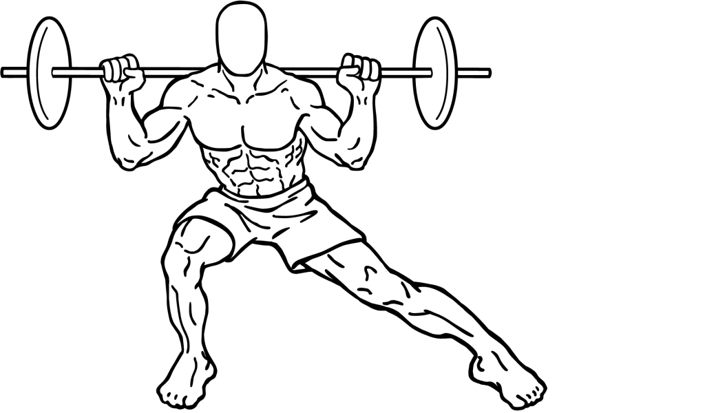 Split Squats Diagram