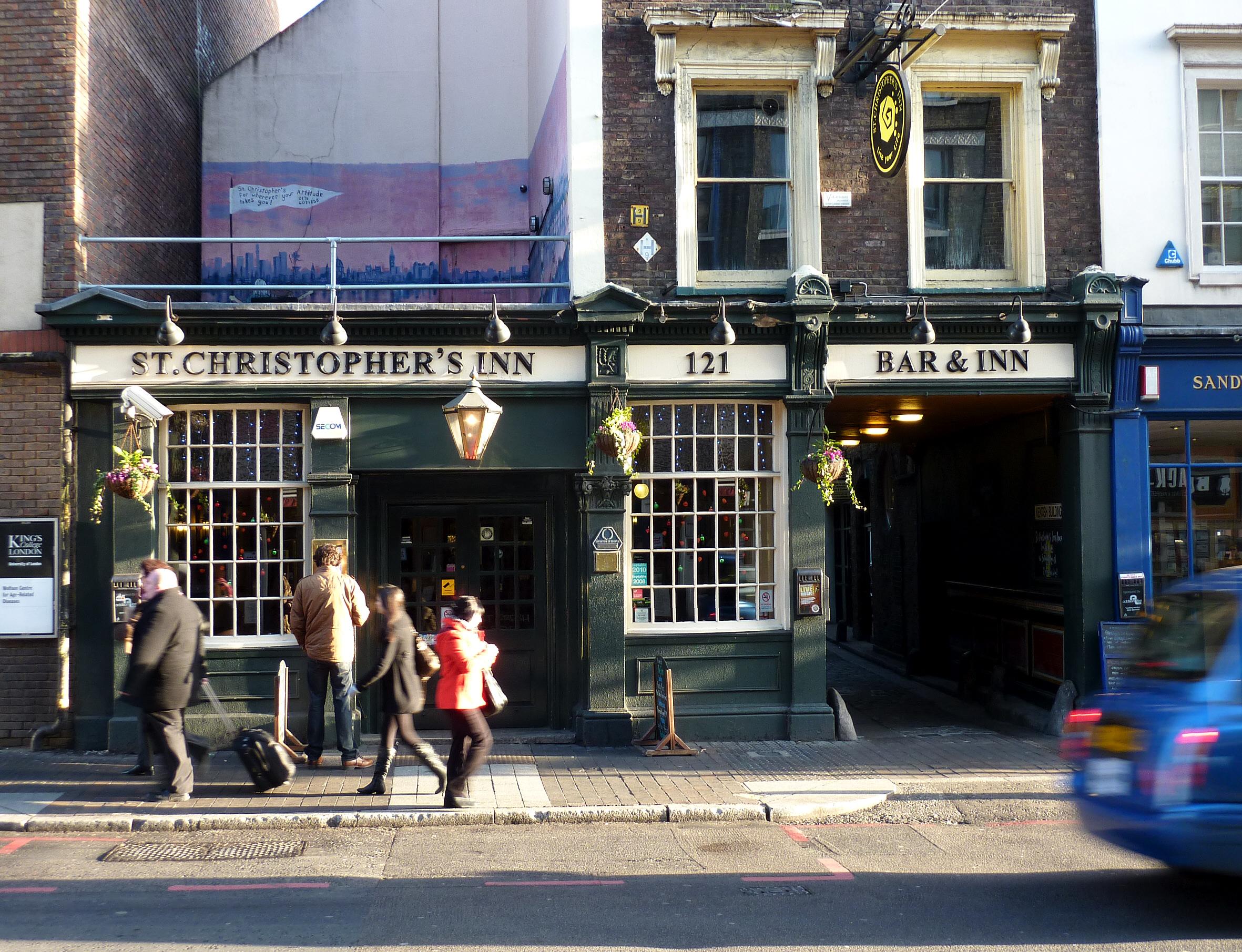 File St Christophers Inn  Southwark  London Jpg